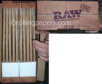 Raw Cones 800 pack Box