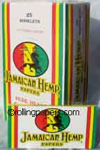 Jamaican Hemp BIG rolling paper booklet