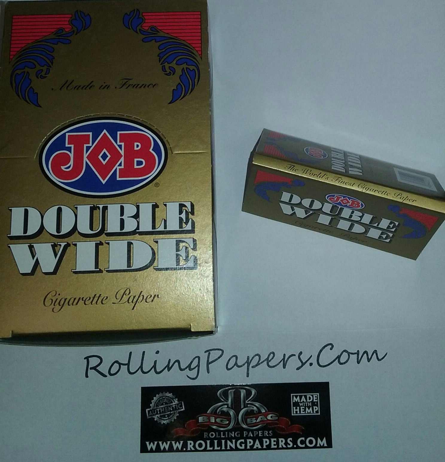 Job Double Wide Rolling Papers Booklet