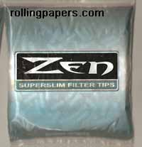 Zen Superslim Plugs Loose Filters in Bag 200 count
