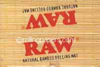 Raw Natural Bamboo Rolling Mat Box 24 Mats in Display
