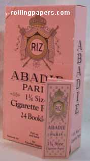 Abadie Paris 1 1/4  24 Booklets  Entire Box Rolling Papers