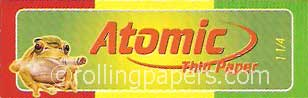 Atomic Frog 1 1/4 Booklet Thin Rolling Papers 50 Leaves 1 1/4 Size