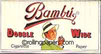 Bambu Double Wide Single Booklet 3 Inch Square Rolling Papers