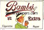Bambu 1/2 Extra Single Book 33 Leaves 1 1/2 Size Rolling Papers