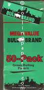 Bull Brand Green Cut Corner Display Box 50 Books of Rolling Papers
