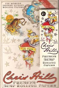 Chris Hill Broken Heart Theme 1 1/4 Rolling Papers Display Box 25 Booklets