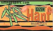 Gizeh Hanf Hemp Papers100 Leaf Packet Rolling Papers