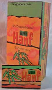 Gizeh Hanf Hemp Papers Wholesale Box 25 Booklets Rolling Papers