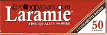 Laramie Red 1 1/4 Wide 78mm 50 Leaf Booklet  Rolling Papers