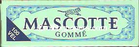 Mascotte Green Gomme 100 Leaf Booklet Rolling Papers