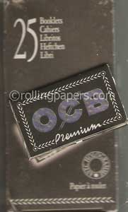 OCB 25 Booklet Box  NEW! 1 1/4 Gummed Rolling Papers