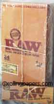 Raw 1 1/4 Natural Unbleached Display Box 24 Books Rolling Papers