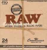 Raw King Connoisseur + Tips Box Rolling Papers