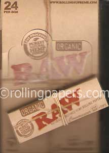 Raw  Organic Connoisseur 1 1/4 Box of Booklets and Tips