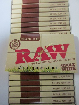 Raw Natural Organic Hemp Rolling Paper Single Wide Booklet