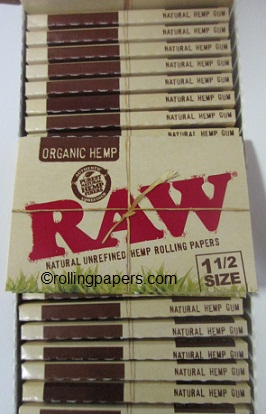 Raw Natural Organic Hemp Rolling Paper 1 1/2 size Booklet