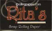 Rita's1 1/4 Hemp Papers Booklet 36 Leaves Rolling Papers