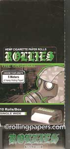 Rollies Rolls Singlewide  Box Of  10 Rolls Rolling Papers