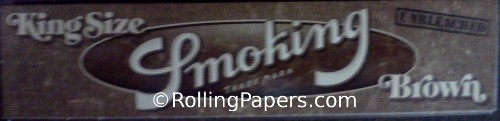 Smoking Brand King Size Unbleached Brown Book