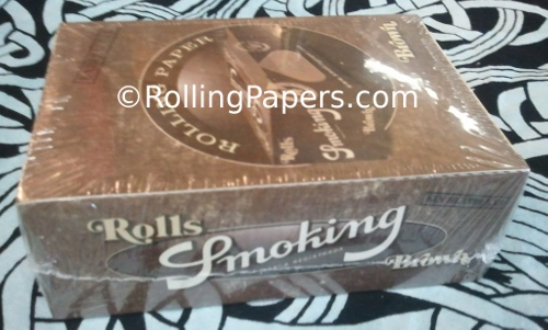 Smoking Brand Brown Roll Unbleached Rolling Paper Box