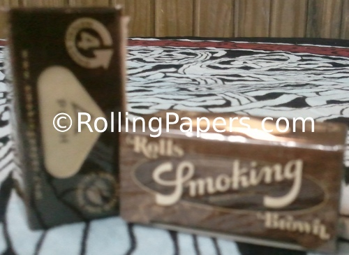 Smoking Brand Brown Roll Unbleached Rolling Paper