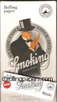 Smoking Brand White 1 1/4 Box 24 Booklets NEW Rolling Papers