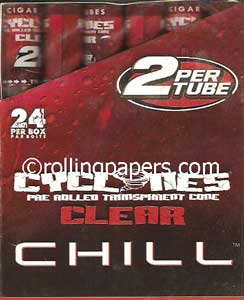 Cyclones ClearRed Chill  2fers 24 Tube/ 48 Cone Box