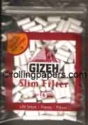 Gizeh Slim Filter Tips 120 Plugs For Roll Your Own Smokes
